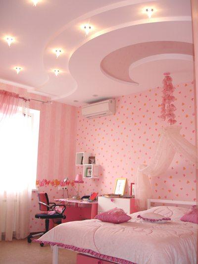 Гипсокартонный потолок – идеальный для детской комнаты