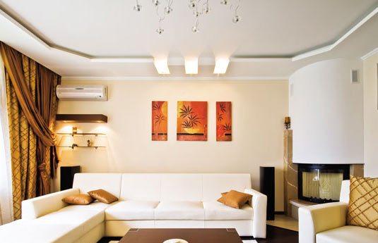 Гипсокартонные потолки для зала