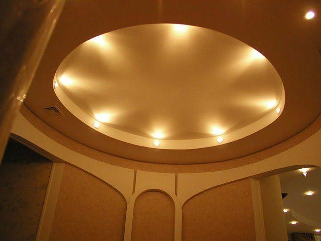 Потолки круглые из гипсокартона