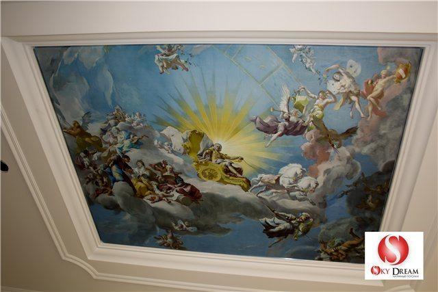 Перед нами прекрасный пример потолка с фотопечатью.