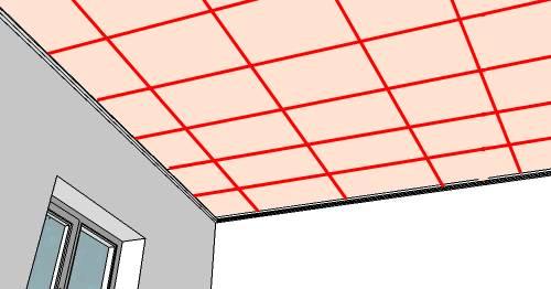 Разметка потолка под каркас