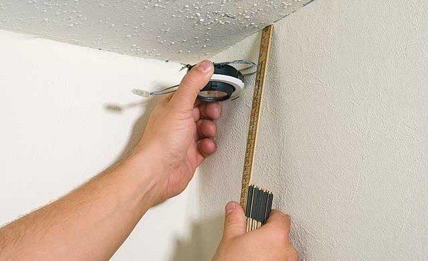 Выполнение разметки навесного потолка