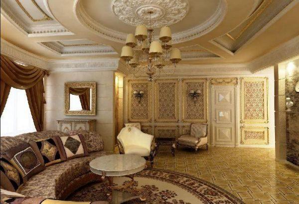 Потолки с гипсовой лепниной традиционны для классических стилей дизайна.