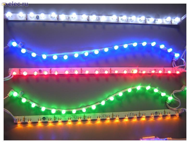 Светодиоды различных расцветок для подсветки потолков