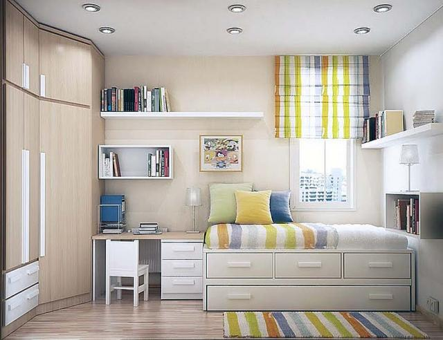 Потолок одноуровневый гипсокартонный – аккуратный вид комнаты