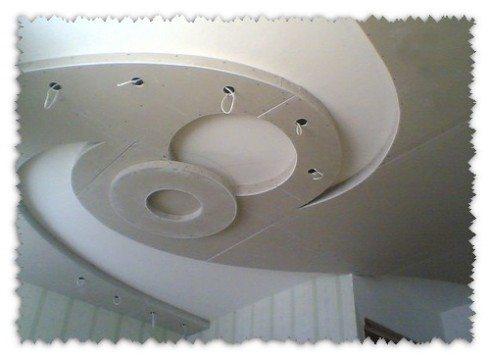 Дизайнерские потолочные изыски, выполненные из гипсокартона