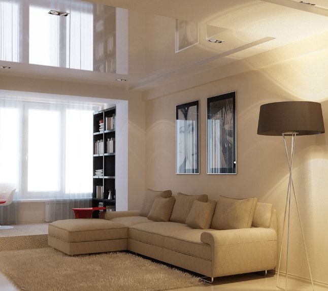 Натяжная зеркальная потолочная конструкция