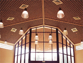 Потолочная конструкция холла.