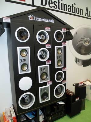 Демонстрационный стенд встраиваемых акустических систем