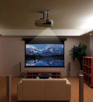 Крепеж потолочный для проектора домашнего кинотеатра