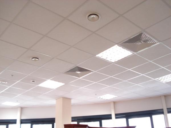 Подвесной потолок из минераловолокнистых плит