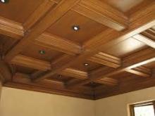 Внешний вид деревянного кессонного потолка
