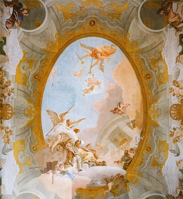 Цифровая печать на холсте позволяет получить фреску большой площади с разумной стоимостью.