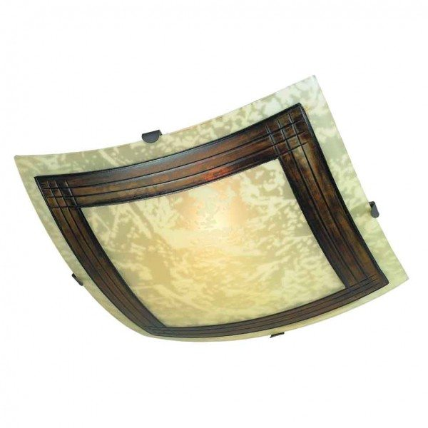 Настенно-потолочный светильник вполне можно повесить в малогабаритной невысокой кухне