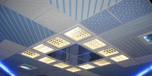 Освещение панельными встраиваемыми светильниками