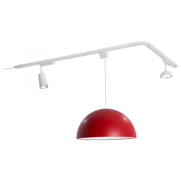 Потолочные люстры на шине позволяет комбинировать подвесы и софиты в соответствии с актуальными потребностями.