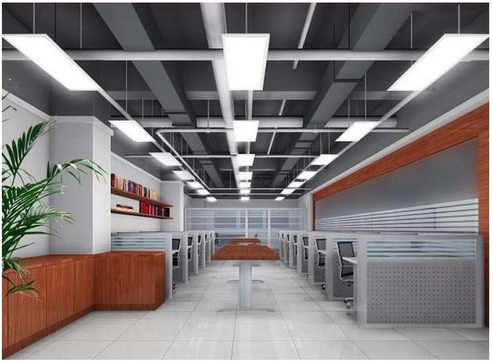 Люстра-панель подходит для производственных помещений и учреждений.