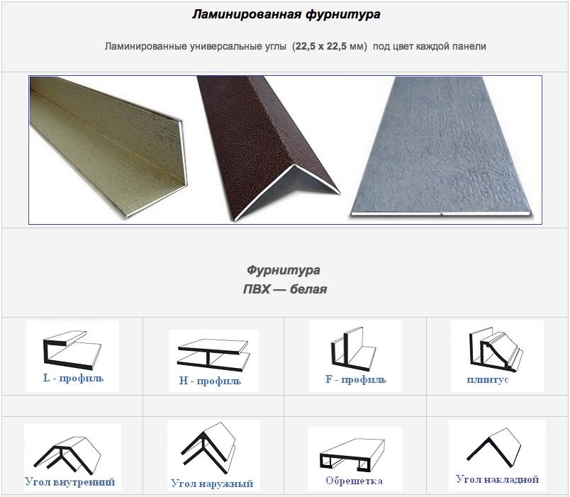 Фурнитура для потолочных пластиковых панелей