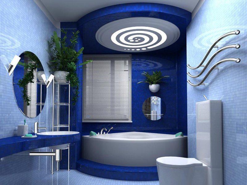 В ванной комнате важно все: стены, пол, но именно потолок делает ее такой изысканной и неподражаемой