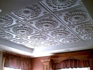 Потолок из экструдированного полистирола