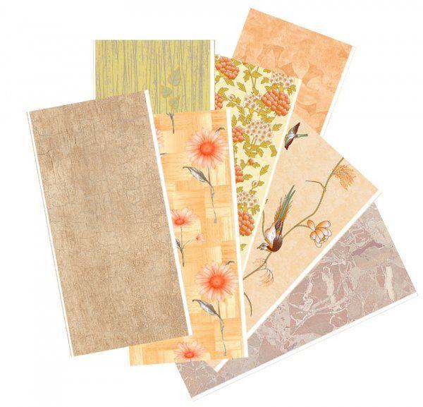 Панели различных цветов, фактур и орнаментов
