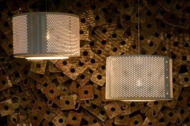 Светильники из барабанов стиральных машин
