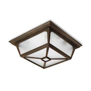 Потолочный светильник из металла и стекла