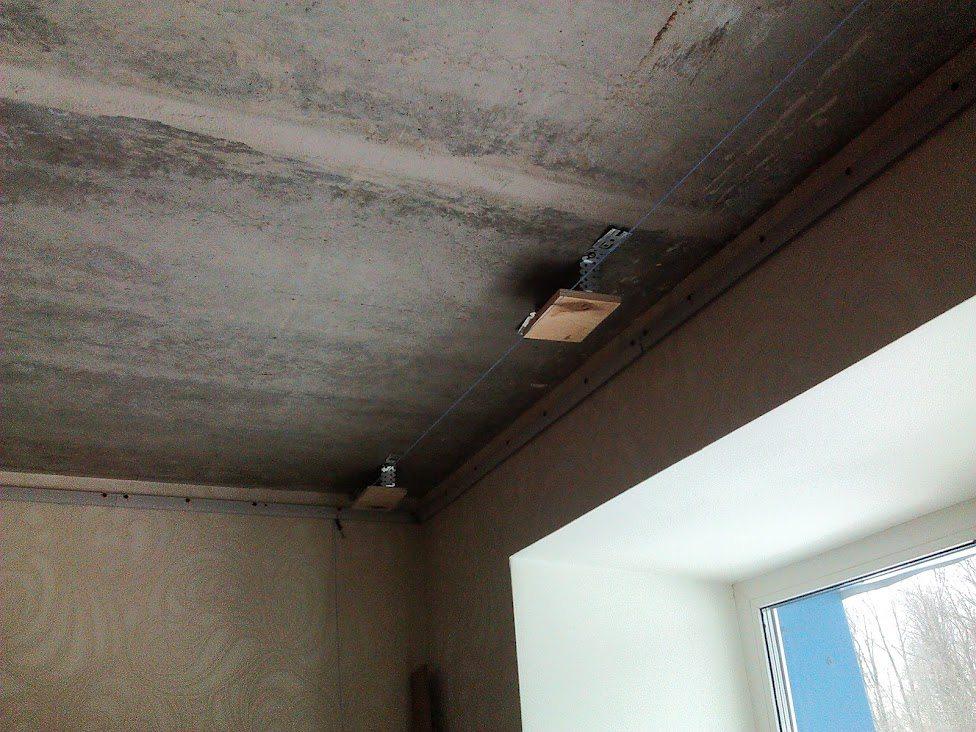 Как сделать гардину на натяжном потолке