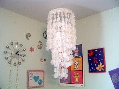 Светильник из кусочков ткани