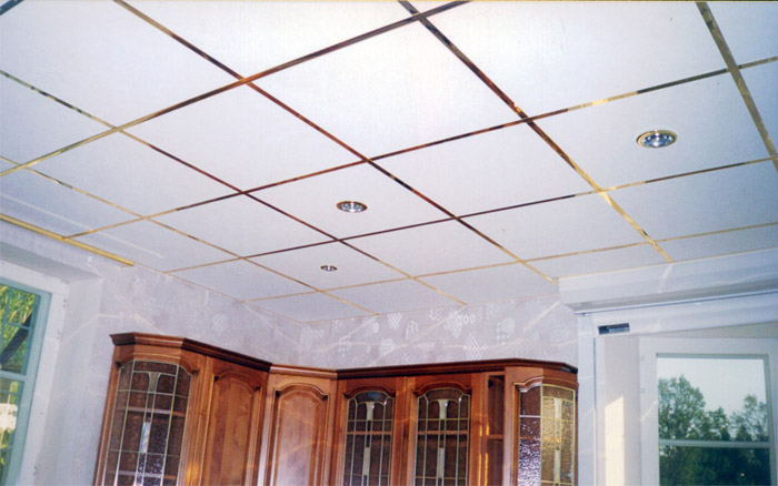 Потолок Армстронг - размер плитки 610x1219 мм