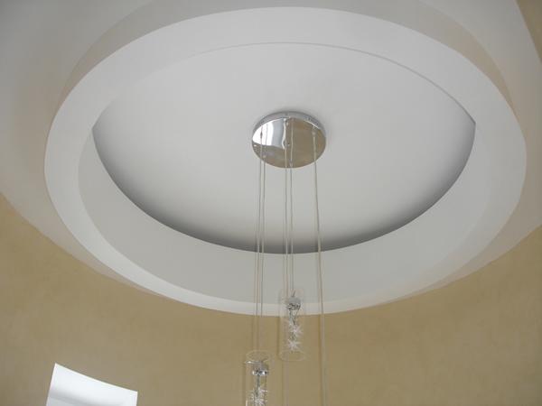 Сложные конструкции подвесных потолков наиболее соответствуют требованиям интерьера, акустики, вентиляции и светотехники (удачно скрывают коммуникации).