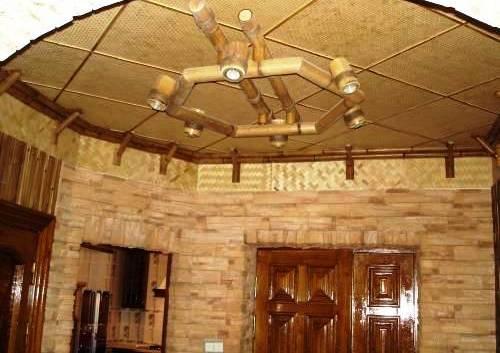 Потолок из мешковины