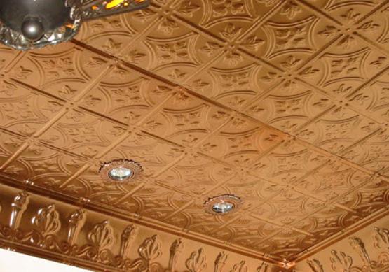 Потолок из экструдированной плитки