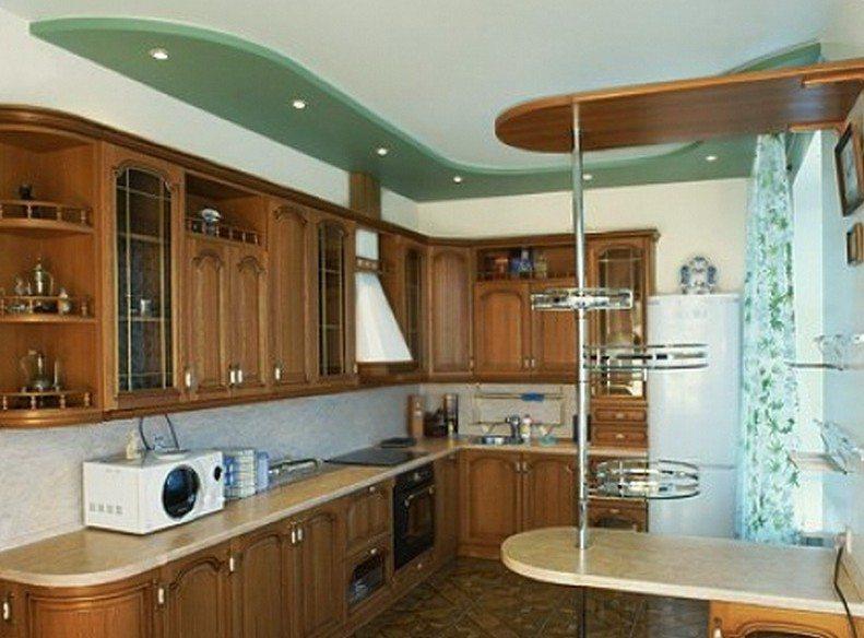 Потолок на кухню из гипсокартона