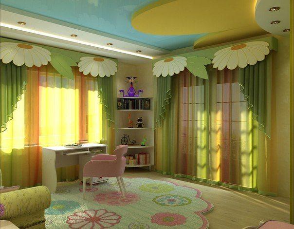 Удачно освещенные детские потолки – важный аспект в дизайне комнаты