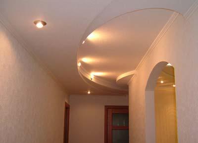 Потолки из коридоре из гипсокартона