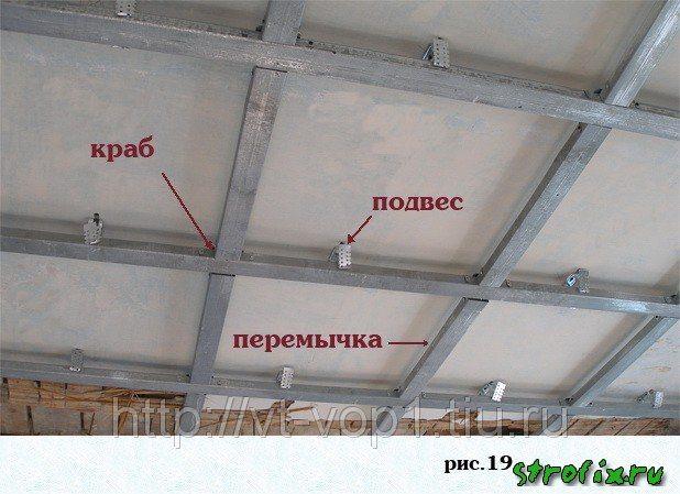 Как правильно сделать подвесной потолок 904