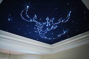 Пример потолка «Звездное небо» с оптоволокна