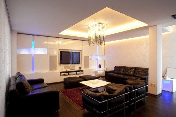 Потолок подчеркивает строгость стиля