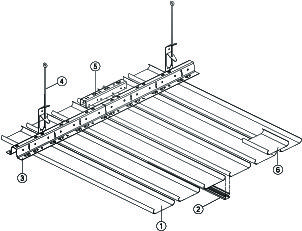«схема монтажа реечного потолка»