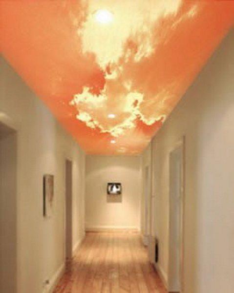 Дизайнерский потолок – украшение прихожей