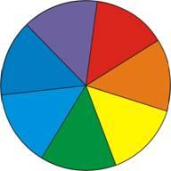 Спектр из 7 основных цветов