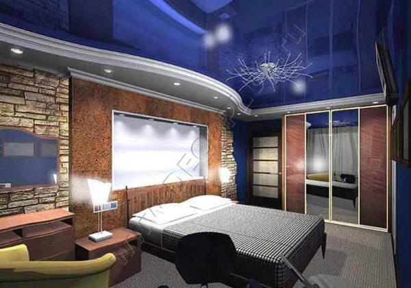 Двухуровневые потолки для спальни. Гипсокартон и ПВХ
