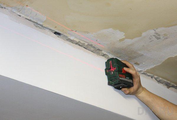 При большой протяженности стен лазерный уровень ощутимо сэкономит время.