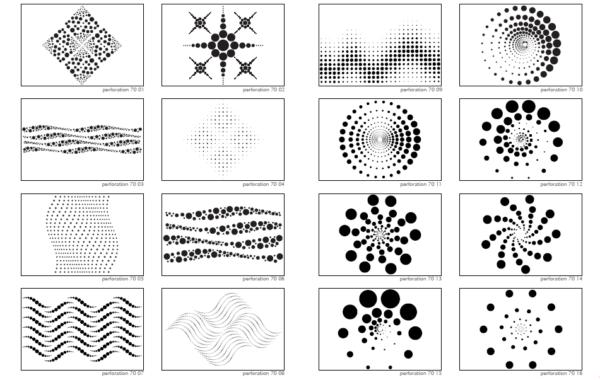 При помощи прорезей можно воспроизводить бесконечное количество узоров.
