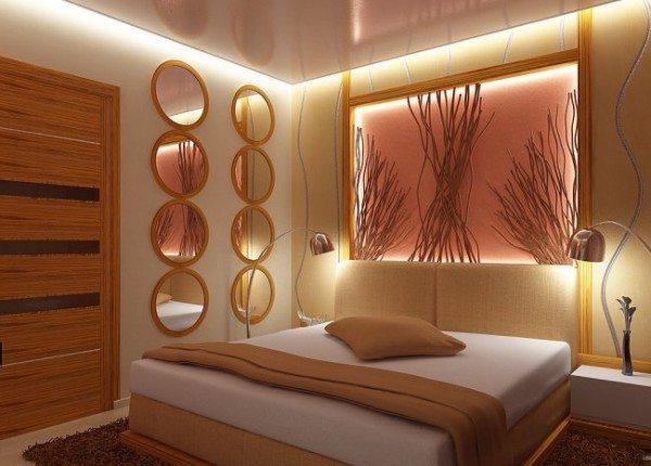 Пример декоративного освещения в спальне