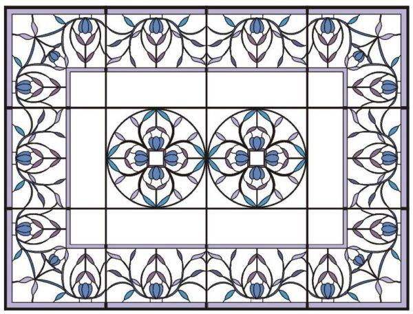Пример эскиза с растительным орнаментом.