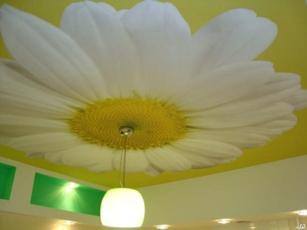 Пример фотопечати на тканевом потолке