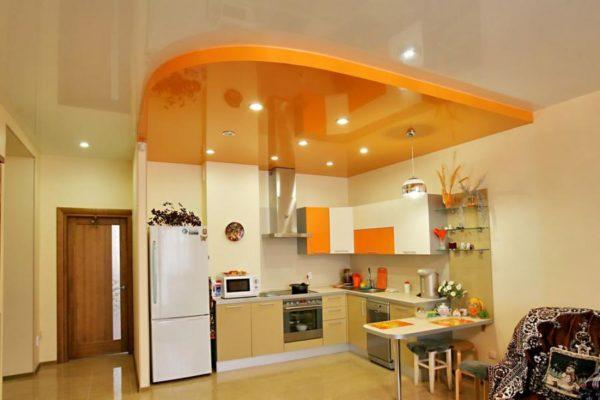 Пример комбинации цветов на потолке
