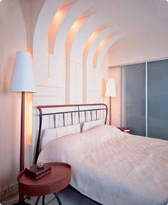 Пример общего освещения в спальне